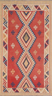 Geometric Kilim Shiraz Persian Runner Rug 5x9