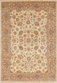 Floral Agra Indian Oriental Hand-Knotted Area Rug Wool 4x6