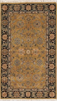 Floral Agra Indian Oriental Hand-Knotted Rug Wool 3x5