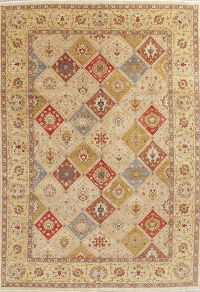 Hand-Spun Wool Agra Indian Oriental Area Rug 10x14