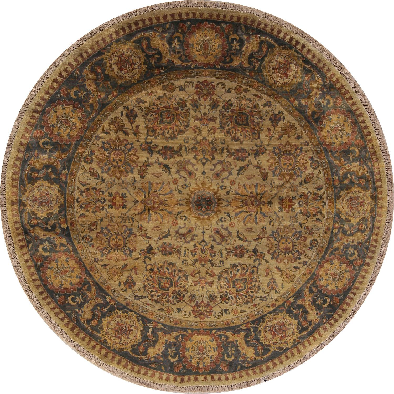 Floral Traditional Style Oushak Oriental 8 Round Hand