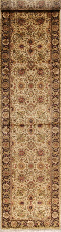 Palace Sized Agra Indian Oriental Runner Rug 4x20