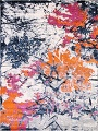 Transitional Floral Nature Print  Oriental Area Rug image 1