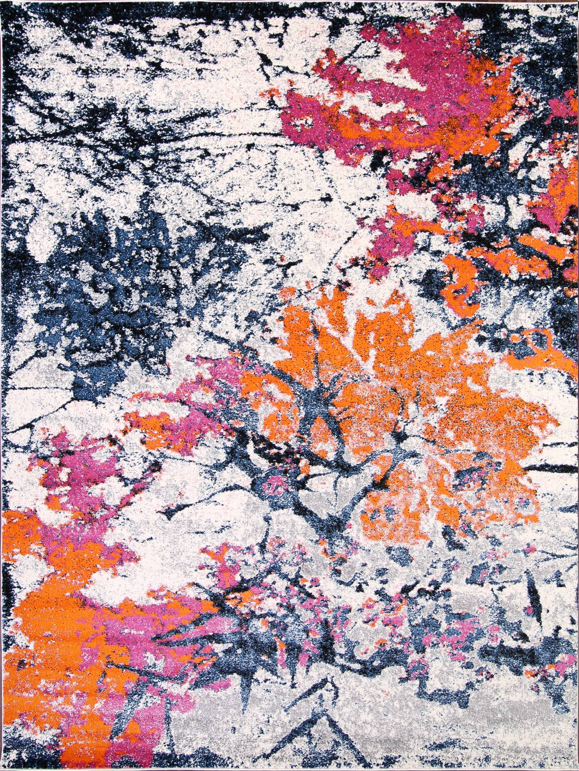 Transitional Floral Nature Print  Oriental Area Rug