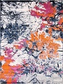 Transitional Floral Nature Print  Oriental Area Rug image 18