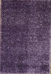 Purple Contemporary Solid Shaggy Oriental Area Rug 5x8