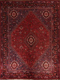 Antique Red Geometric Qashqai Persian Area Rug 7x9
