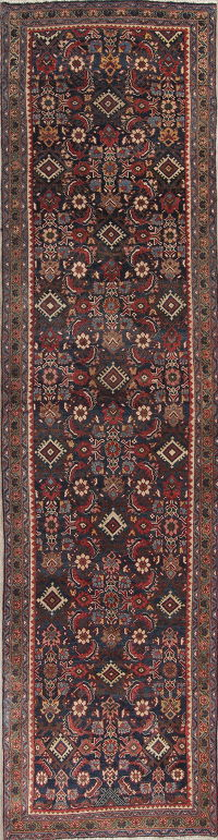 Antique All-Over Heriz Serapi Persian Runner Rug 4x14