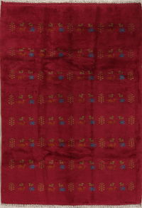Red Tribal Gabbeh Shiraz Persian Area Rug 6x8
