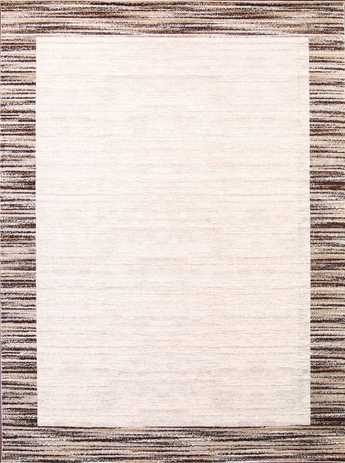 Contemporary Reproduction Modern Turkish Oriental Ivory/Brown Area Rug image 13