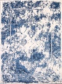 Reproduction Abstract Turkish Distressed Blue/Ivory Oriental Area Rug image 18