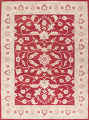 All-Over Floral Red Oushak Agra Oriental Area Rug image 14