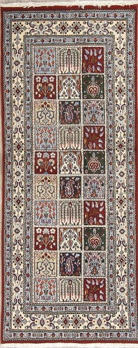 Red Floral Mood Persian Runner Rug 2x6
