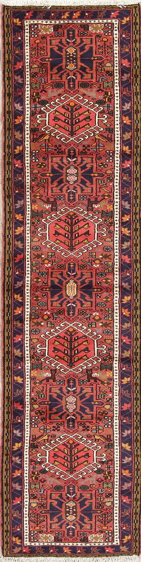 Tribal Gharajeh Persian Runner Rug 2x9