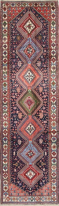 South-West Gemetric Yalameh Persian Runner Rug 3x10