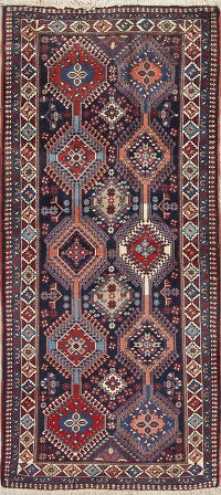 South-west Geometric Yalameh Persian Runner Rug 3x6