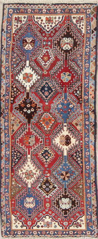 South-west Geometric Yalameh Persian Runner Rug 2x6