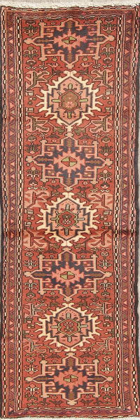 Tribal Geometric Gharajeh Persian Runner Rug 2x6