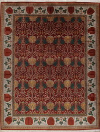 Red Floral Heriz Persian Area Rug 12x15