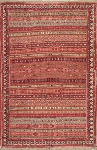 All-Over Geometric Kilim Shiraz Persian Area Rug 6x9