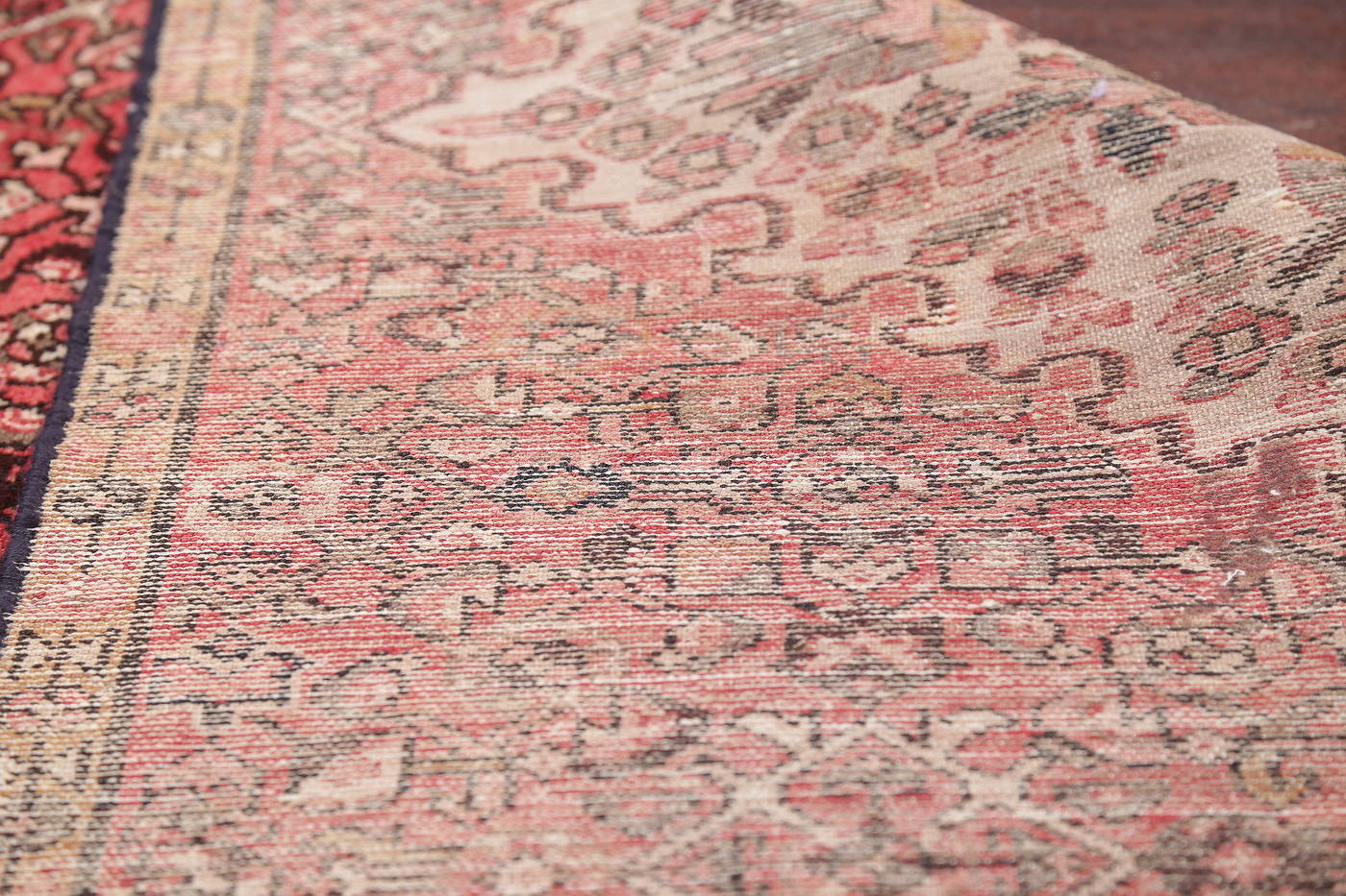 Hand-Knotted Red Hamedan Persian Wool Rug 3x6