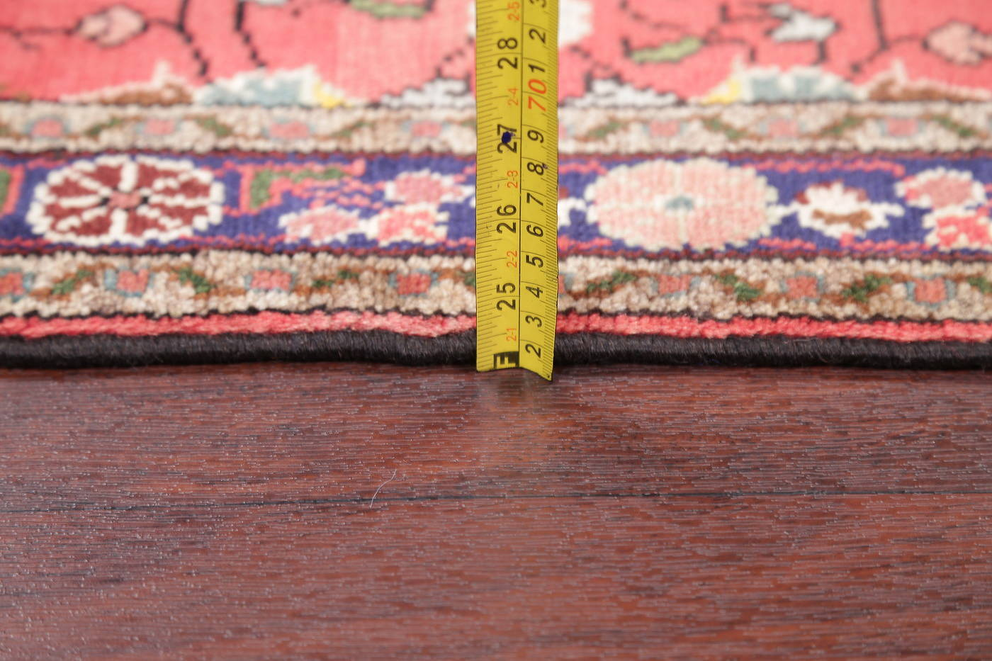 Floral Red Hamedan Persian Hand-Knotted Rug Wool 3x4