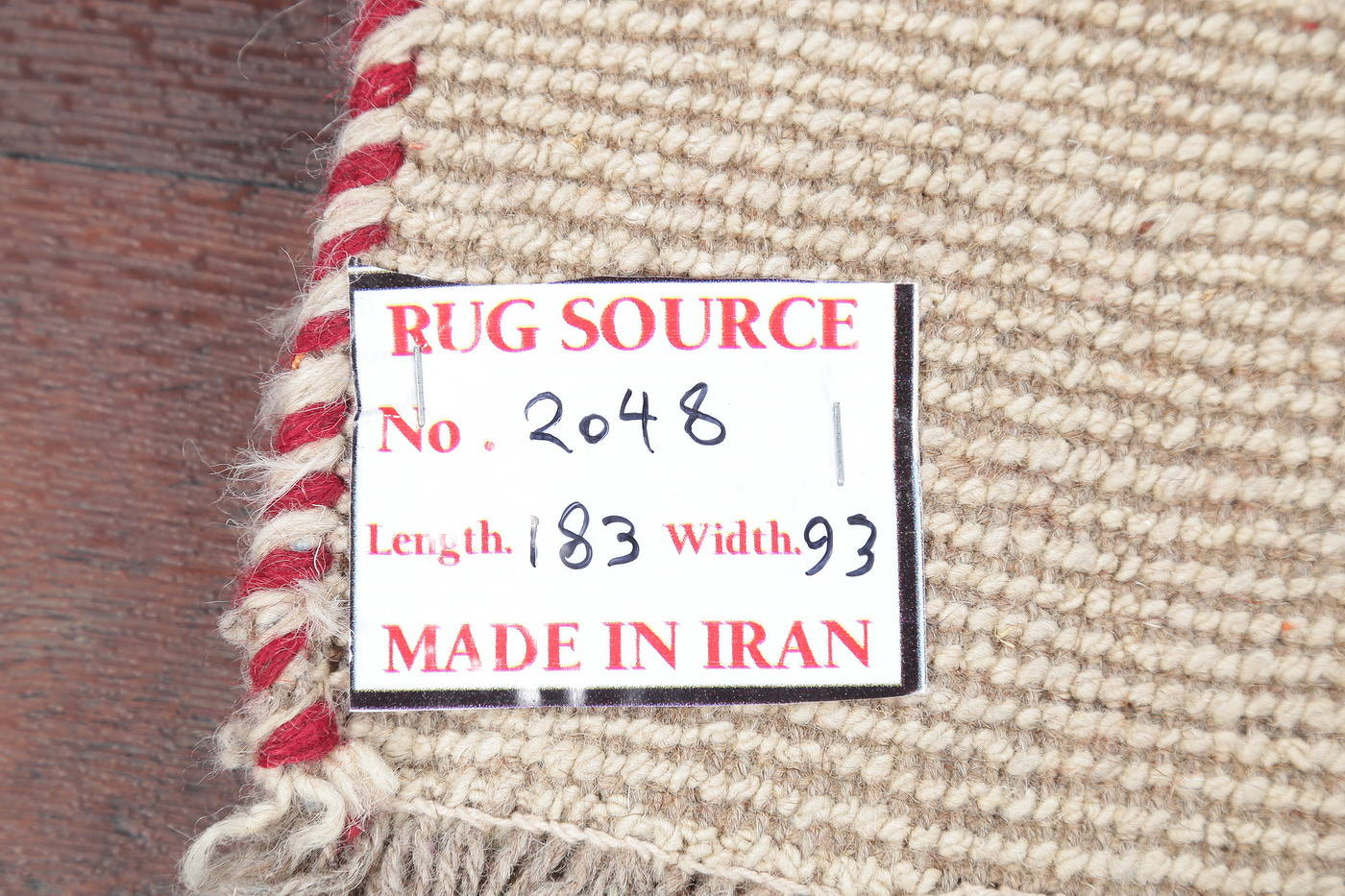 Hand-Knotted Solid Ivory Gabbeh Shiraz Persian Runner Rug 3x6 image 14