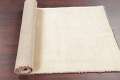 Hand-Knotted Solid Ivory Gabbeh Shiraz Persian Runner Rug 3x6 image 10