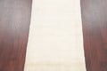 Hand-Knotted Solid Ivory Gabbeh Shiraz Persian Runner Rug 3x6 image 3