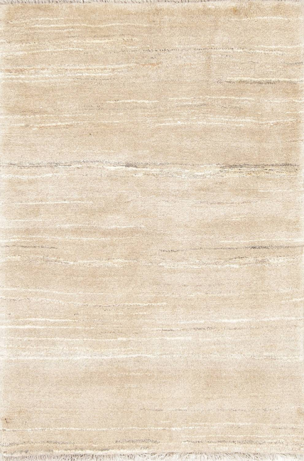 Hand-Knotted Beige Contemporary Gabbeh Zollanvari Persian Rug Wool 3x5 image 1