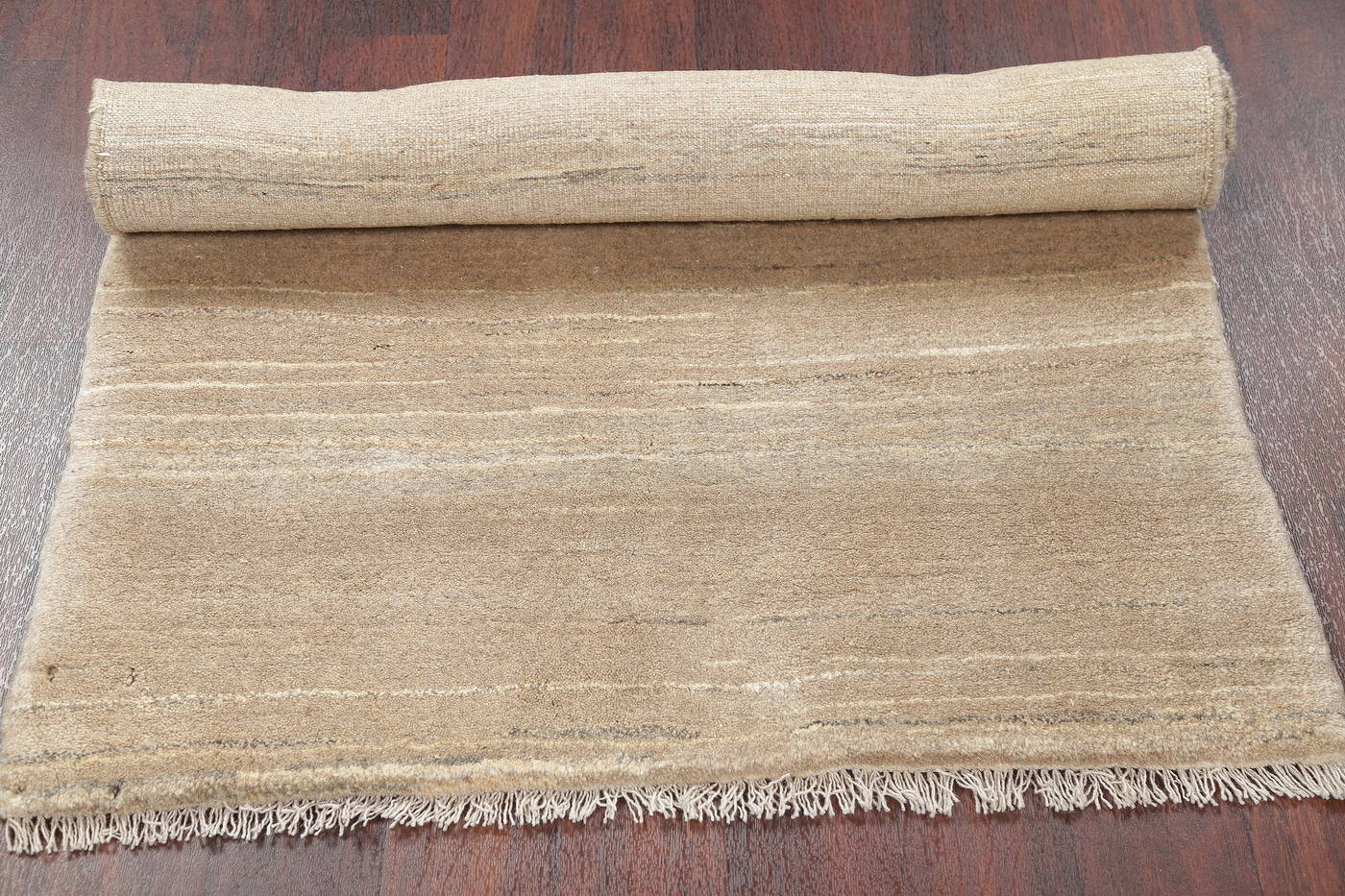 Hand-Knotted Beige Contemporary Gabbeh Zollanvari Persian Rug Wool 3x5 image 9