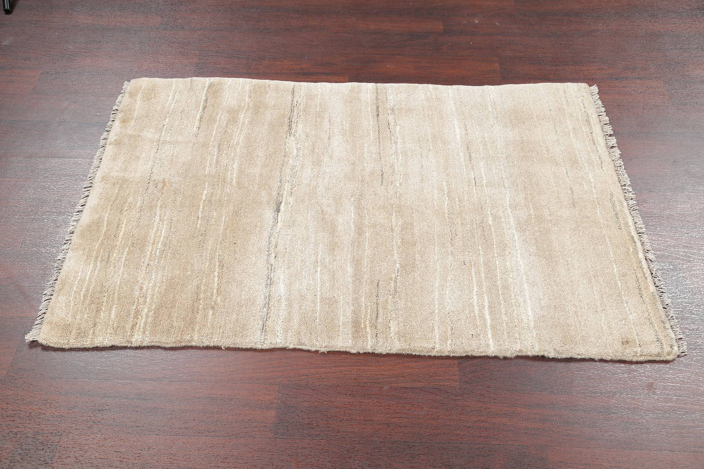Hand-Knotted Beige Contemporary Gabbeh Zollanvari Persian Rug Wool 3x5 image 7