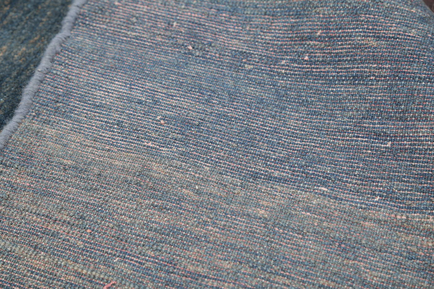 Hand-Knotted Blue Contemporary Gabbeh Zollanvari Persian Rug Wool 3x5