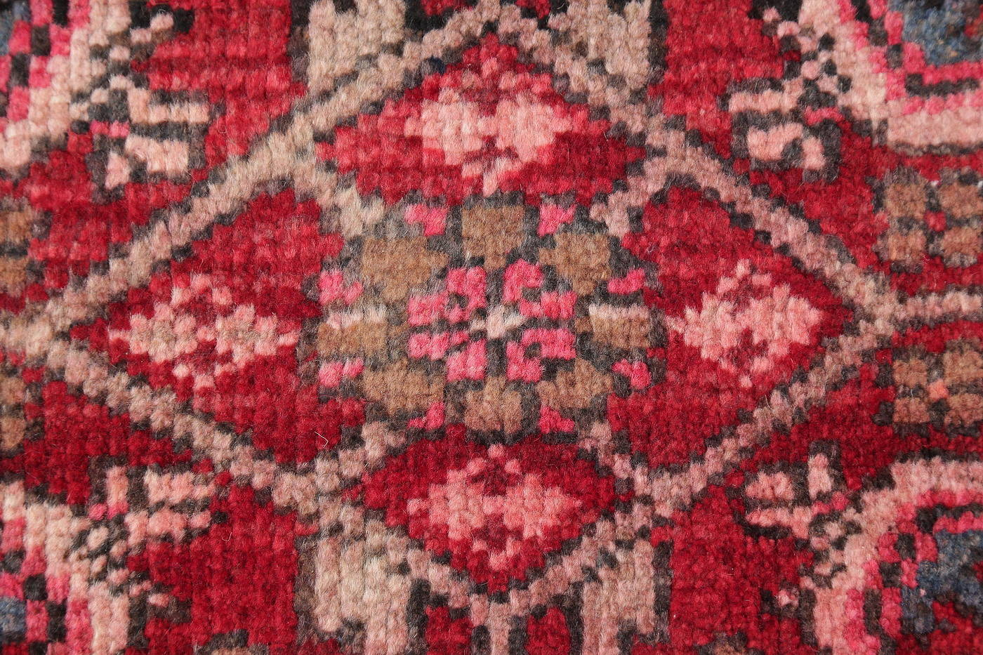 Hand-Knotted Red Geometric Heriz Persian Area Rug Wool 4x5 image 11