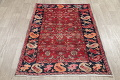 Hand-Knotted Red Geometric Heriz Persian Area Rug Wool 4x5 image 17