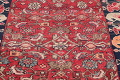 Hand-Knotted Red Geometric Heriz Persian Area Rug Wool 4x5 image 14