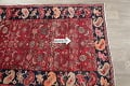 Hand-Knotted Red Geometric Heriz Persian Area Rug Wool 4x5 image 9
