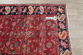 Hand-Knotted Red Geometric Heriz Persian Area Rug Wool 4x5 image 13