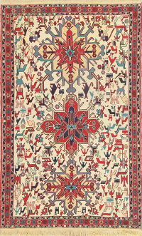 Hand-Woven Tribal Kilim Shiraz Persian Area Rug Wool 4x6