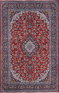 Floral Red Najafabad Isfahan Turkish Oriental Area Rug Wool 6x10