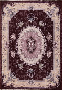Floral Brown Oushak Turkish Oriental Area Rug Wool 7x10