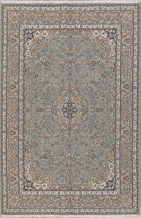 Floral Green Oushak Turkish Oriental Area Rug Wool 6x10