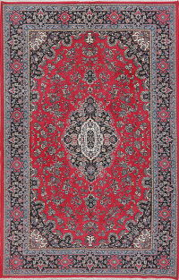 Floral Red Kerman Turkish Oriental Area Rug 6x10