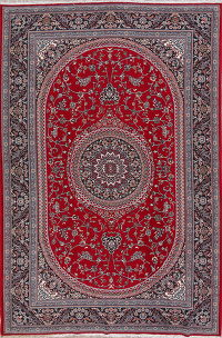 Floral Red Kashmar Turkish Oriental Area Rug Wool 7x10