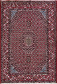 All-Over Geometric Red Bidjar Turkish Oriental Area Rug Wool 7x10