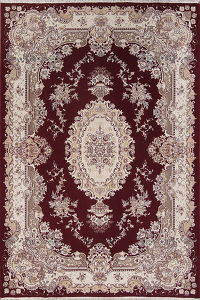 Floral Red Tabriz Persian Area Rug 7x10