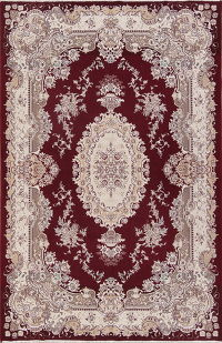 Floral Red Oushak Turkish Oriental Area Rug Wool 6x10