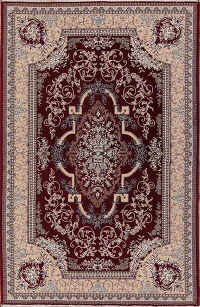 Floral Red Tabriz Persian Area Rug Wool 6x10