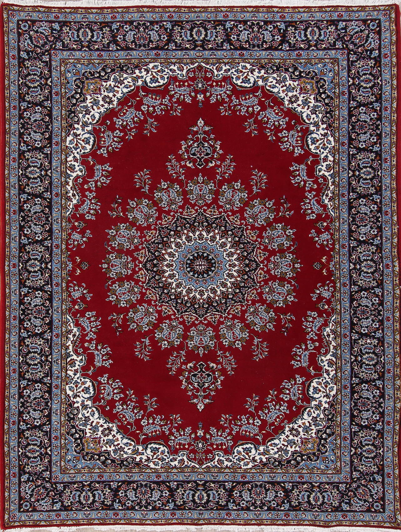 Floral Red Oushak Turkish Oriental Area Rug Wool 7x9