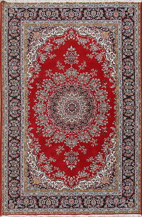 Floral Red Oushak Turkish Oriental Area Rug Wool 6x9